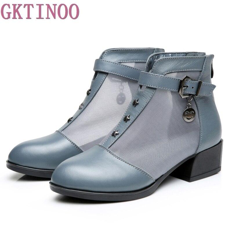 Для женщин Сапоги и ботинки для девочек толстый каблук обувь на платформе с пряжкой осень лето чистая Сапоги и ботинки для девочек для Женск...