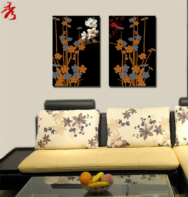 home decor abstract art canvas print painting flowers modular pictures 16x24 decorative paintings 2 panel wall art no framed