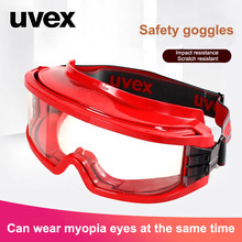 UVEX Safety Goggles High Strength Anti-impact Protective Eyewear Transparent PC Lens Eyeglasses Anti-UV Dustproof Sporty Goggles