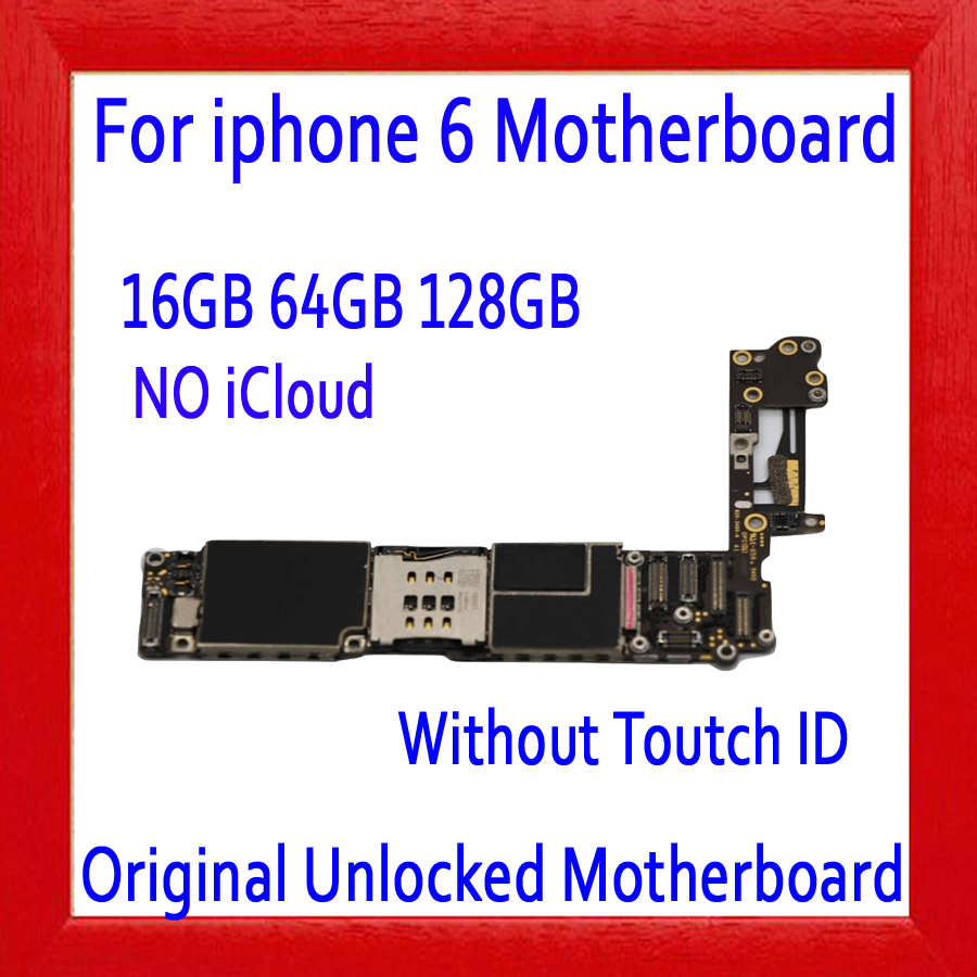 16gb 64gb 128gb For iphone 6 4.7inch Motherboard Factory unlocked Mainboards Original for iphone 6 Logic boards without Touch ID16gb 64gb 128gb For iphone 6 4.7inch Motherboard Factory unlocked Mainboards Original for iphone 6 Logic boards without Touch ID