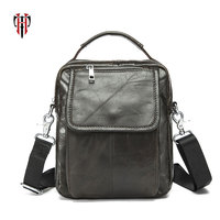 TIANHOO Genuine Leather men bags massenger vintage street fashion male bags mini handbag crossbody shoulder bags