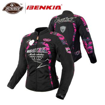 BENKIA Women Motorcycle Jacket Breathable MeshMoto Jacket  Racing Riding Protective Gear Motorbike Clothing Spring Summer Autumn