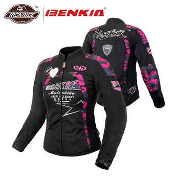 BENKIA Women Motorcycle Jacket Breathable MeshMoto Jacket  Racing Riding Protective Gear Motorbike Clothing Spring Summer Autumn - DISCOUNT ITEM  45% OFF All Category