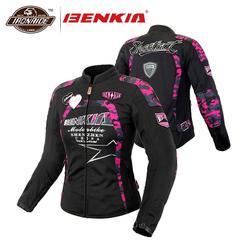 BENKIA Women Motorcycle Jacket Breathable MeshMoto Jacket Racing Riding Protective Gear Motorbike Clothing Spring Summer Autumn