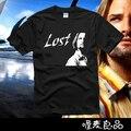 2017 nuevos hombres del diseño de la corto-manga de la camiseta 100% algodón camisetas Perdido Sawyer tee camisetas Zorro otoño-verano alta calidad