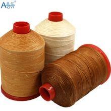 Aoyi плоская восковая нить 1 мм ручная швейная кожаная нить ткацкая вощеная нить Прочная износостойкая хорошая швейная эффект