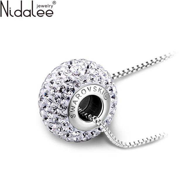 Nidalee 2016 moda colares mulheres declaração colar pingentes de cristal de swarovski diy festa de casamento jóias collares n888