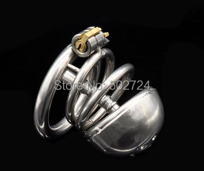Adult Games Stainless Steel Male Chastity Device With Catheter Cock Cage Virginity Lock Penis Ring Penis Lock