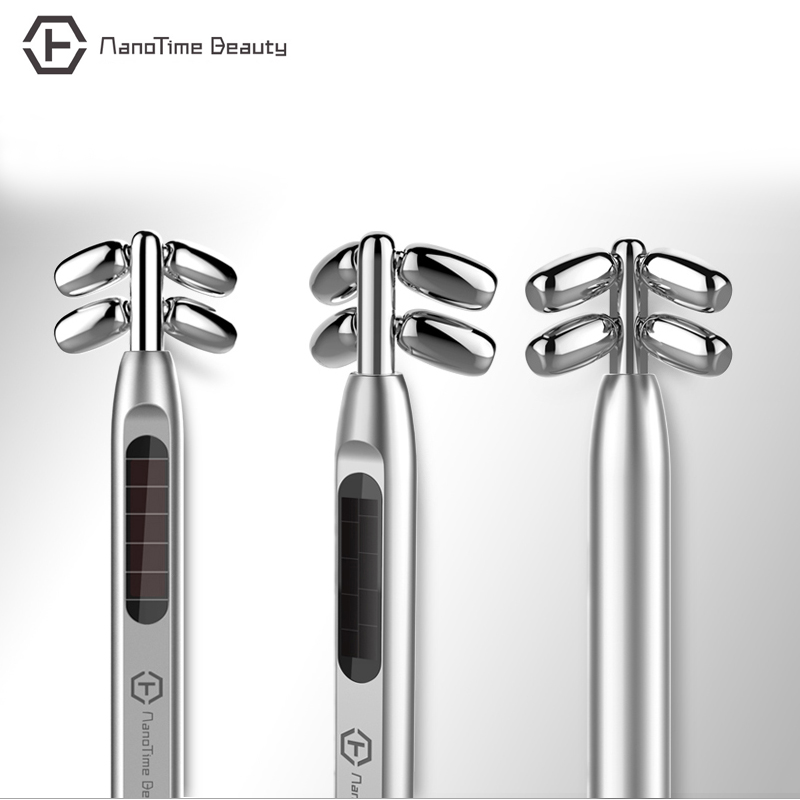 Mini Slimming Face microcurrent face lift Roller Facial Beauty Roller Massager Stick Lift Skin Tightening Wrinkle Bar Face plasma waves bio microcurrent skin stimulation face lift tightening wrinkle removal magic beauty wand