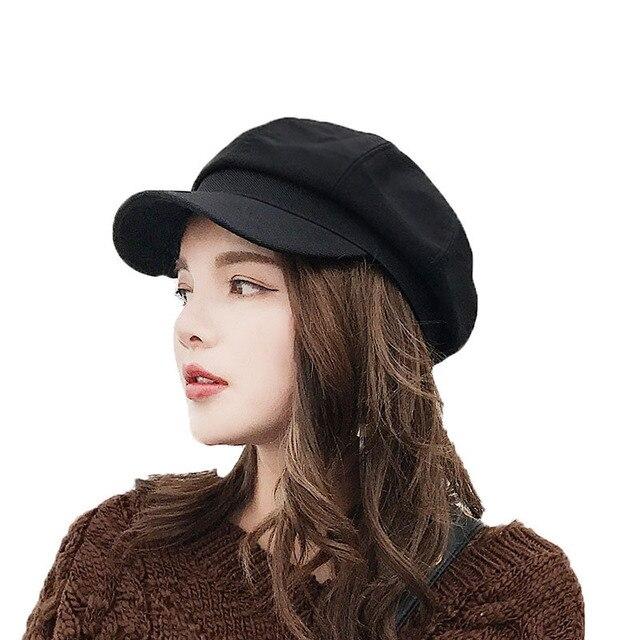 2018 Vintage Hats Newsboy Caps For Women Fashion Military Hat Gorras Planas  Snapback Caps Female Casquette 6564ee9f0b2