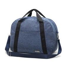 Купить с кэшбэком Men Trolley Travel Bags Packing Cubes Luggage Duffle Pouch Zipper Clothes Storage Organizer Shoulder Handbag Weekend Tote Bags