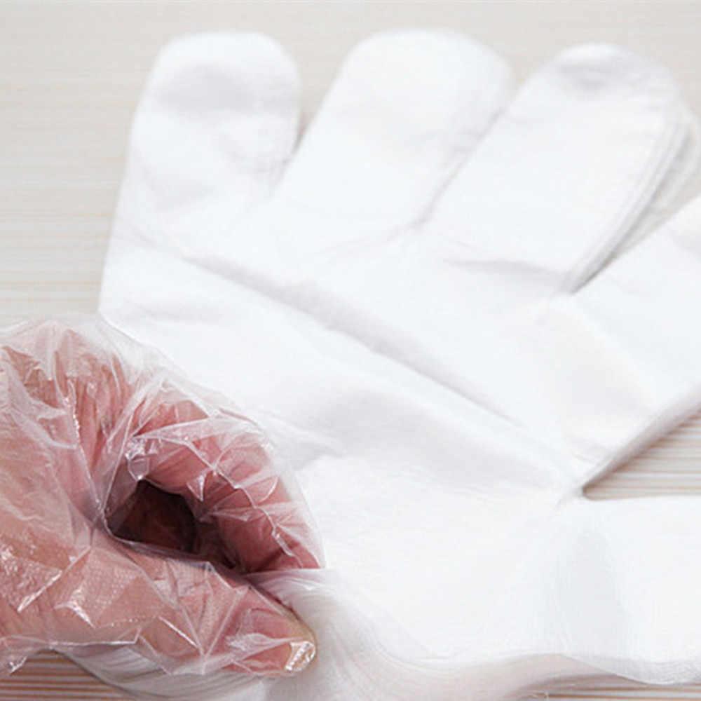 Huishoudelijke Handschoenen 50/100 Pcs Plastic Wegwerphandschoenen Restaurant Home Service Catering Hygiëne Plastic Drop Verzending July23