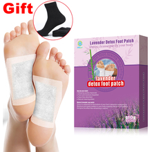 KONGDY Adhesive Detox Foot Pad 10 Pcs/Box Lavender Bamboo Vinegar Plaster Eliminate Fatigue&Eliminate Toxins Slimming Care Patch