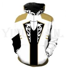 Anime Tekken 7 Sweatshirt Men and Women Zipper Hoodies Asuka Claudio 3d Print Hooded Jacket for Boys Costume Harajuku Streetwear