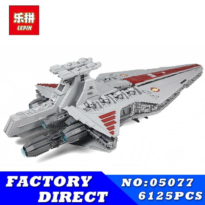 LEPIN 05077 6125PCS Star Series Wars Classic Ucs Ship Republic Cruiser Building Blocks Bricks Toy Model Children Toys Gift 05033