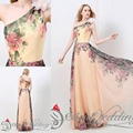 2015 Hot Sell Cheap Prom Evening Dresses In Stock Real Picture Chiffon  Colorful Celebrity Homecoming Evening Gowns S8117
