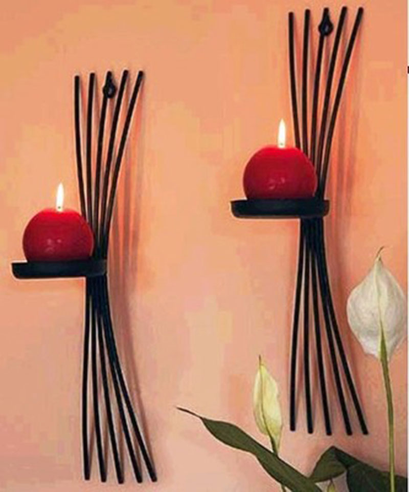 2pcs/pack European style metal candle holders wall candle stand ...