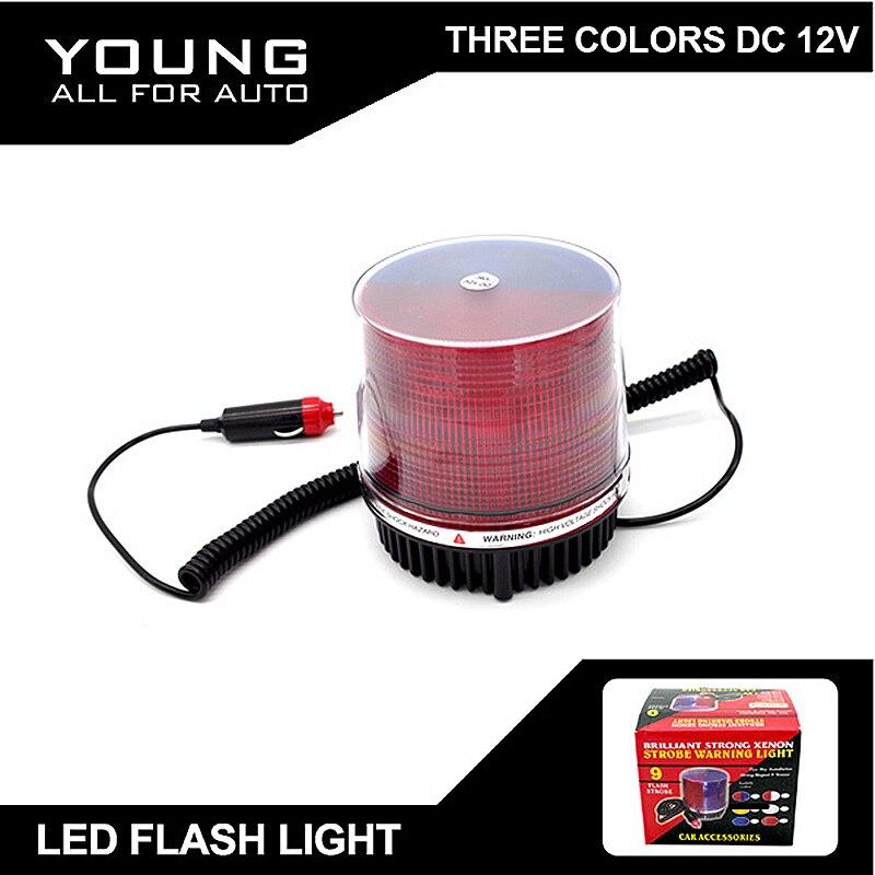 2015 новое Прибытие СИД DC12V 30Вт изменяемый Цвет красный синий Янтарный белый красный синий полиция свет лампы светодиодная вспышка света Бесплатная доставка