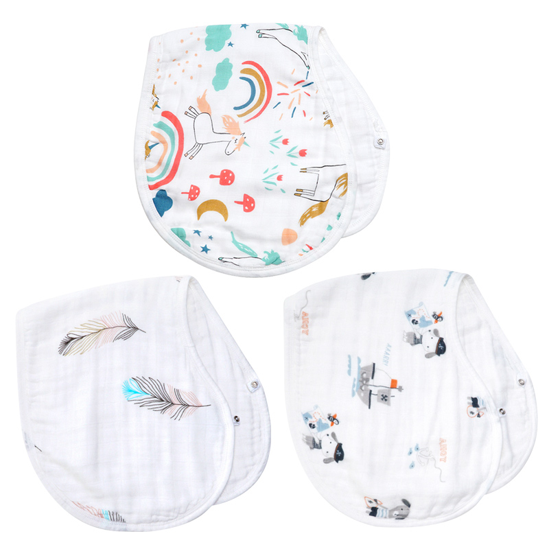 Muslinlife Bamboo Cotton Baby Bibs Burp Cloth Cotton Bamboo Muslin Baby Bib Soft Bandanas Bibs For 0-5Year Kids Towel Scarf