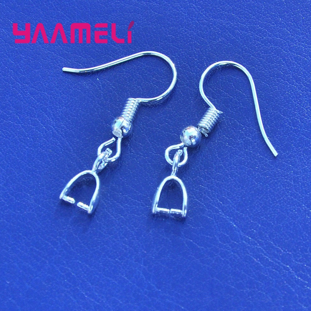 YAAMELI Wholesale 925 Sterling Silver Handmade Earring Jewelry Findings Top Quality French Hook Earring Connector Components
