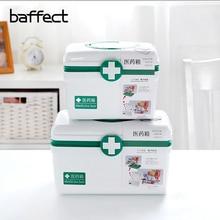 Многослойная семейная медицина пластиковая медицинская коробка для хранения Первой Помощи Коробка для хранения ручка переносное хранение медицина сбор