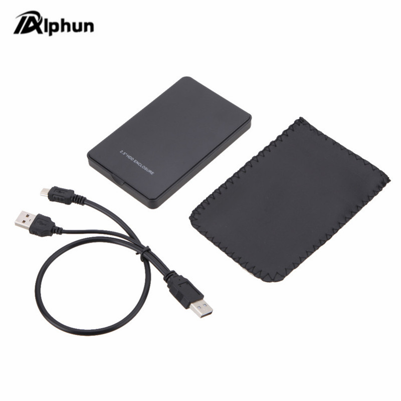 5 Color 2.5 Inch Notebook SATA HDD Case To Sata USB 2.0 SSD HD Hard Drive Disk External Storage Enclosure Box With USB 2.0 Cable