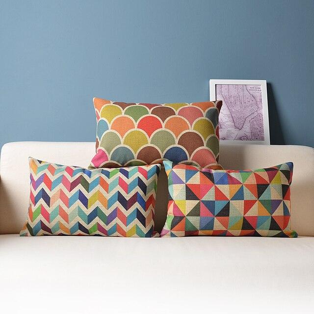 decorative throw pillow cushion cover geometric lumbar free shipping 2015 fashion european decorative cushions