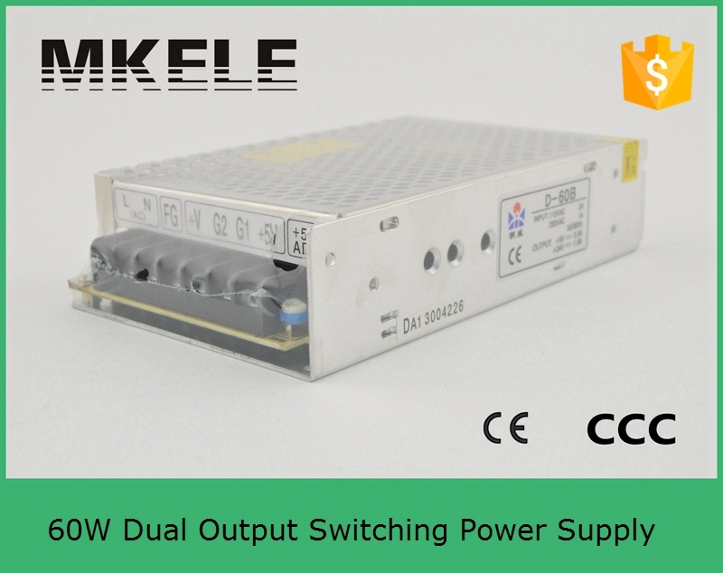 Customized dual smps D-60F15 15V -15V dual output switching power supply dual output 2A 2A 60w with cer cetificate 20v 1 2a power module 220v to 20v acdc direct switching power supply isolation can be customized