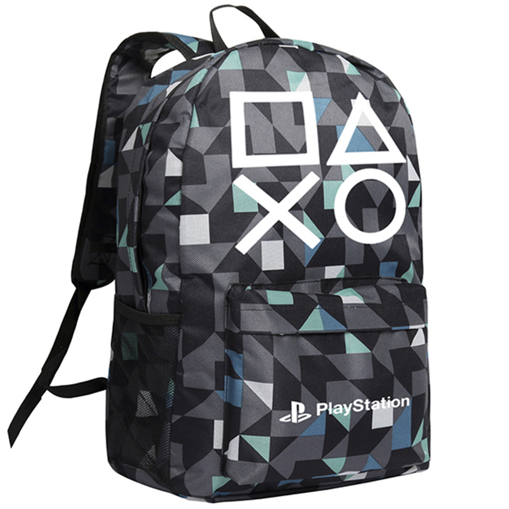 MeanCat PS4 Game Play Station Oxford Black Backpack with Zipper Bags and Side Pockets Hot Games PS4 Collection Backpack цена и фото