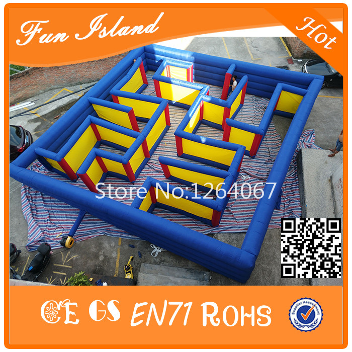 Grote Outdoor Labyrint Games Opblaasbare Doolhof Speelgoed Voor Koop, Fun Games Opblaasbare Puzzel Doolhof Spelletjes Voor Kinderen En Volwassenen - 2