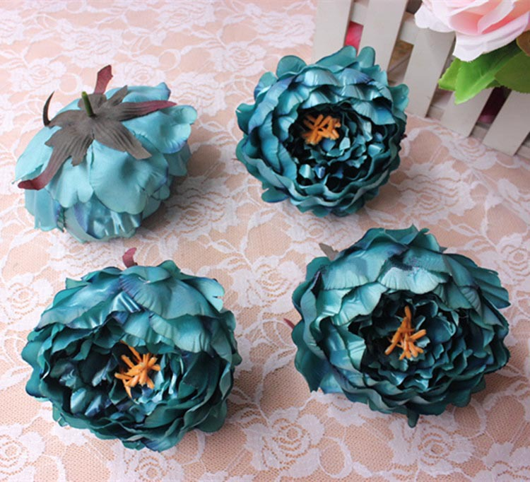 11CM,Real Touch Floral Silk Fabric Large Vintage Peony ...