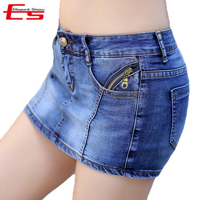 Nuevo 2017 Verano Falda de Mezclilla Cortos Mujeres Más El Tamaño de La Vendimia Short Jeans Mujer Jeans Moda Shorts Falda Feminino