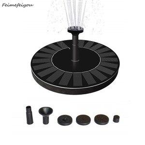Image 1 - Bomba de agua con forma redonda, Fuente Solar flotante para exteriores, fuente para baño de aves, Bomba de piscina para decoración de estanque y jardín