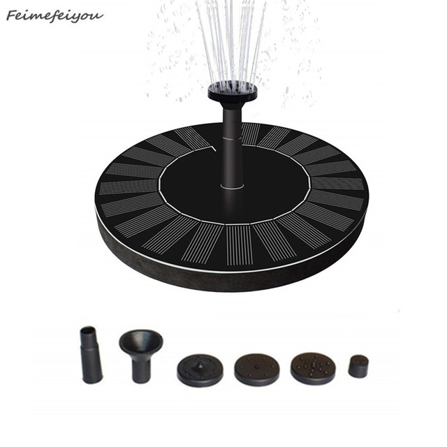 Round Shaped Solar Fountain Water Floating Fountain Pump Outdoor Bird Bath Fountain Pool Pump For Pond Garden Decoration