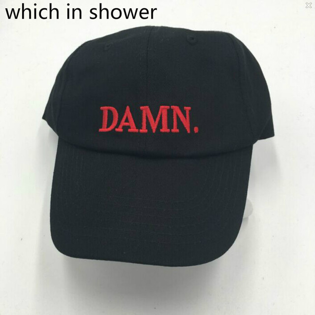 Which in shower Black Embroidered DAMN. Dad Hat Hip Hop Stitched Kendrick  lamar Unstructured Rapper Baseball Cap Trucker Bone 61a9d28b18c