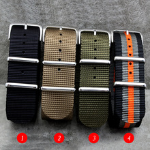 High Quality for Nylon Zulu Watch Band straps With Stainless Steel Silver Buckles 18mm 20mm 22mm 24mm Fashion men women strap