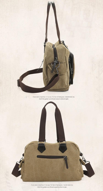 2016 men\'s travel bag canvas men messenger bag brand men\'s bag vintage style briefcase,Travel Shoulder bag (20)