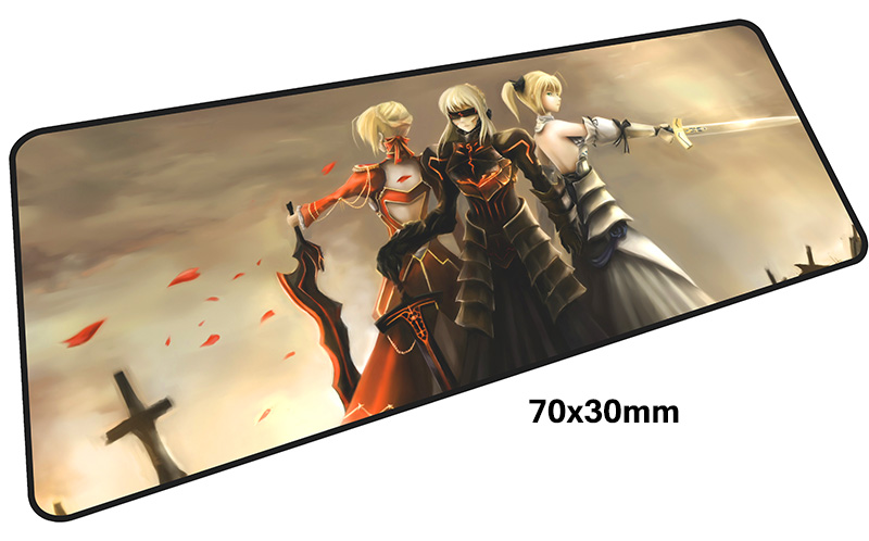 Fate Saber mousepad gamer 700x300X3MM gaming mouse pad large Aestheticism notebook pc accessories laptop padmouse ergonomic mat