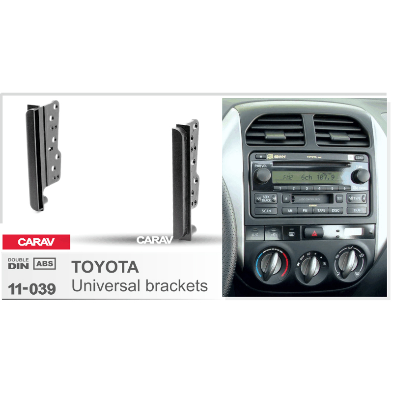 CARAV 11-039 top quality CAR stereo dash kit radio CD player install mount for TOYOTA Universal side brackets 2-DIN