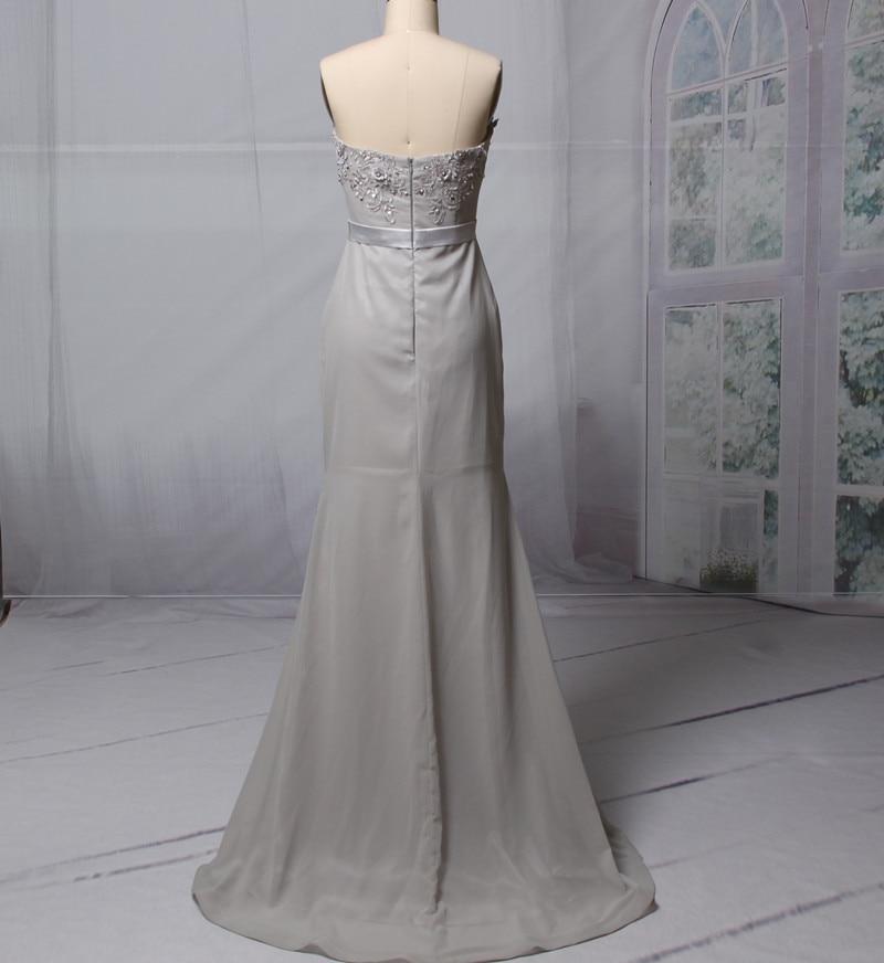 2018 Lange zeemeermin Bruidsmeisjesjurken Strapless Mouwloze Backless - Bruiloft feestjurken - Foto 5