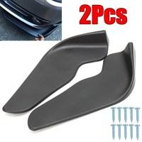 2Pcs Black ABS Fit Front Bumper Lip Splitter Fin Air Knife Auto Body Kit Car Spoiler Accessory