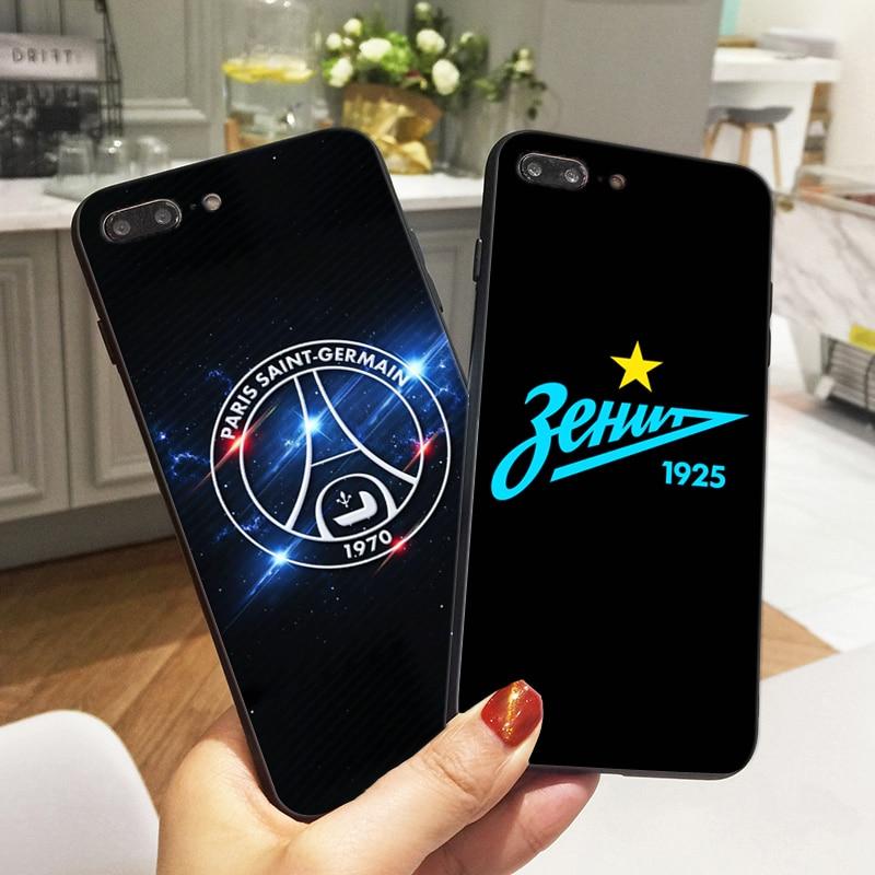 FC PSG Cas Pour iPhone 6 s Zenit Cas Du Football pour l'iphone X 7 5 5S SE 6 8 plus la Couverture Souple En Silicone Téléphone Fundas Coque