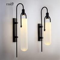 Скандинавский белый стеклянный трубчатый настенный светильник для коридора спальни прикроватная вилла домашний деко туалетный светильни