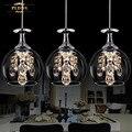Современная модная Столовая K9 Хрустальная 5 Вт Светодиодная люстра лампа DIY домашний декор для гостиной прозрачная стеклянная чашка люстры ...