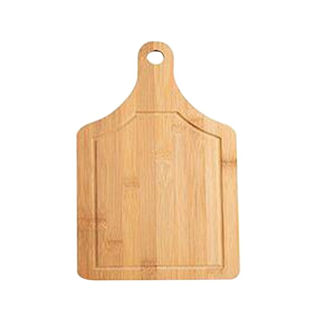 Forma quadrada Placa De Corte De Bambu Tábua de Queijos Em Miniatura Lados Dobro Disponível Bandeja De Bolo De Frutas Blocos de Cozinha (33x18 cm)