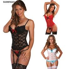 Plus Size Sexy Lingerie Hot Erotic Sex Costume Women sex Underwear Set ladies lace slips