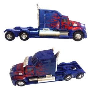 Image 2 - Робот трансформер 45 см, модель автомобиля, классические игрушки, фигурка, подарки для детей, игрушки для мальчиков, модель музыкального автомобиля