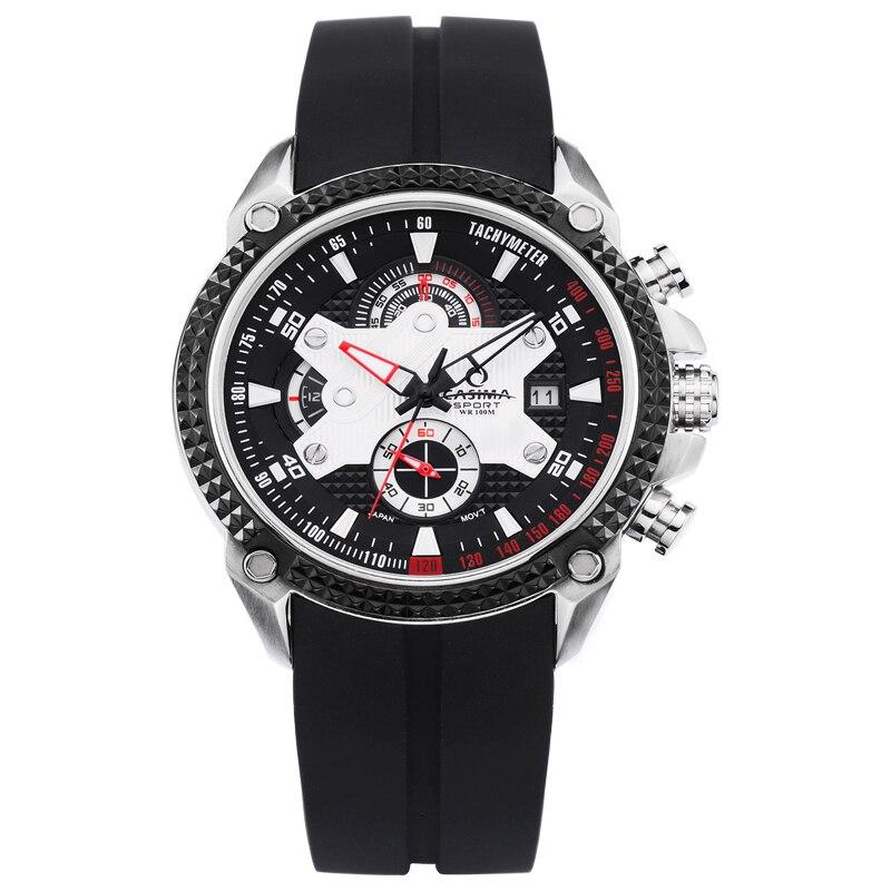 CASIMA luxury brand fashion sport silicone chronograph calendar men's watches waterproof luminous with clock box8207