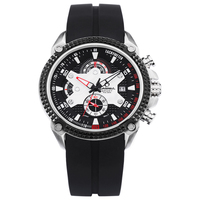CASIMA Luxury Brand Fashion Sport Silicone Chronograph Calendar Men S Watches Waterproof Luminous With Clock Box8207