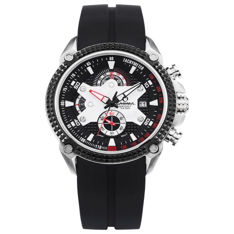 Luxury Brand watches men Sport Fashion Elegent table mens quartz watch silicone strap luminous waterproof 100m CASIMA 8207 цена и фото